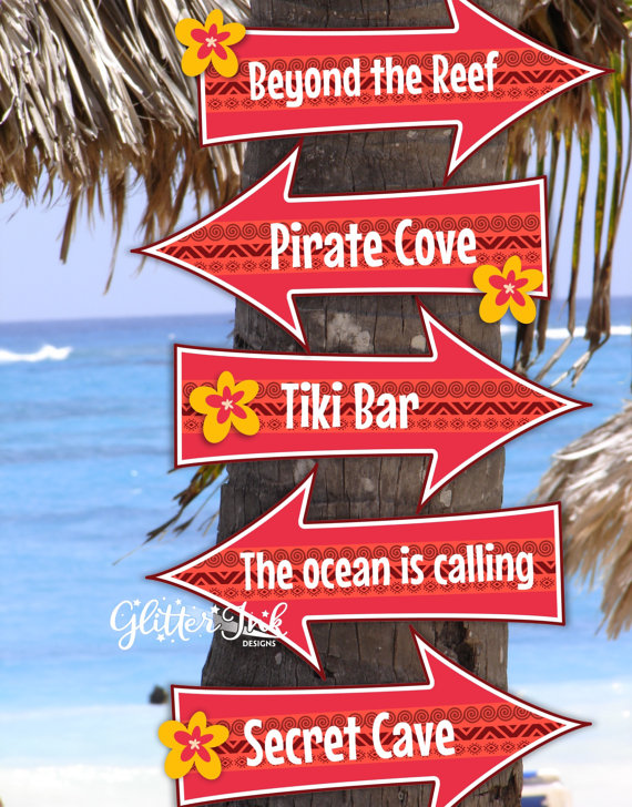 Moana Party Signs | CatchMyParty.com