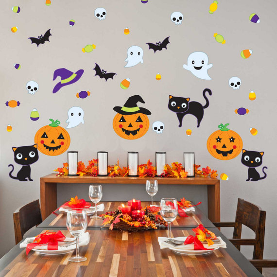 Halloween Dessert Table Backdrop | CatchMyParty.com