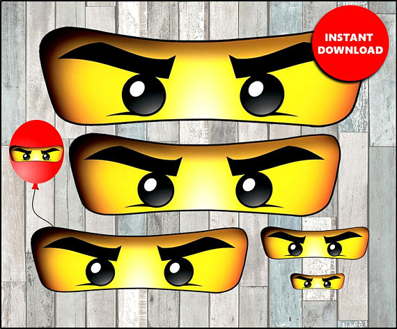 Lego Ninjago Party Decoration Eyes | CatchMyParty.com