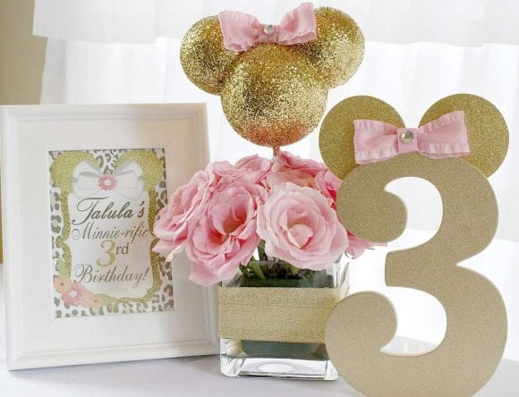 Minnie Mouse Centerpiece | CatchMyParty.com