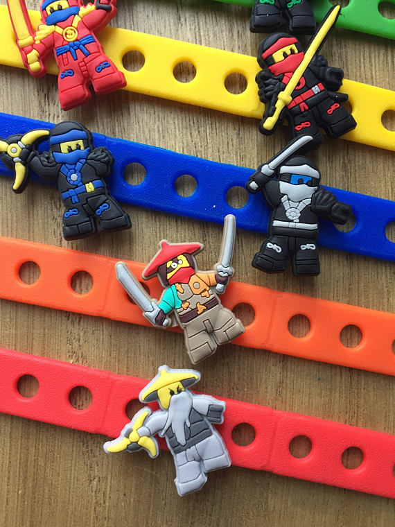 Lego Ninjago Carm Bracelets Party Favors | CatchMyParty.com