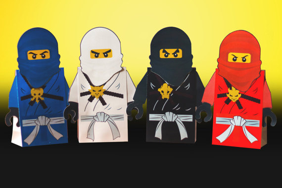 Lego Ninjago Party Favor Box | CatchMyParty.com