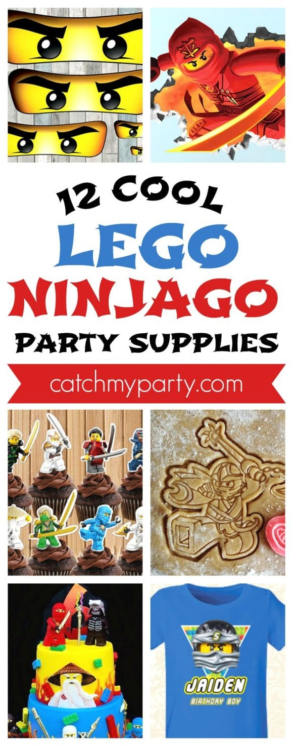 12 Cool Lego Ninjago Party Supplies | CatchMyParty.com