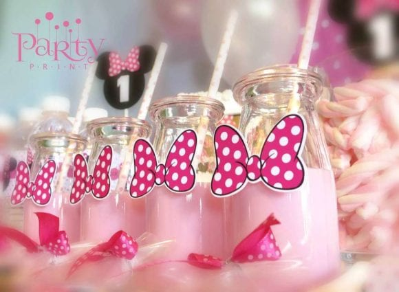 Minnie Mouse Milk Shakes | CatchMyParty.com