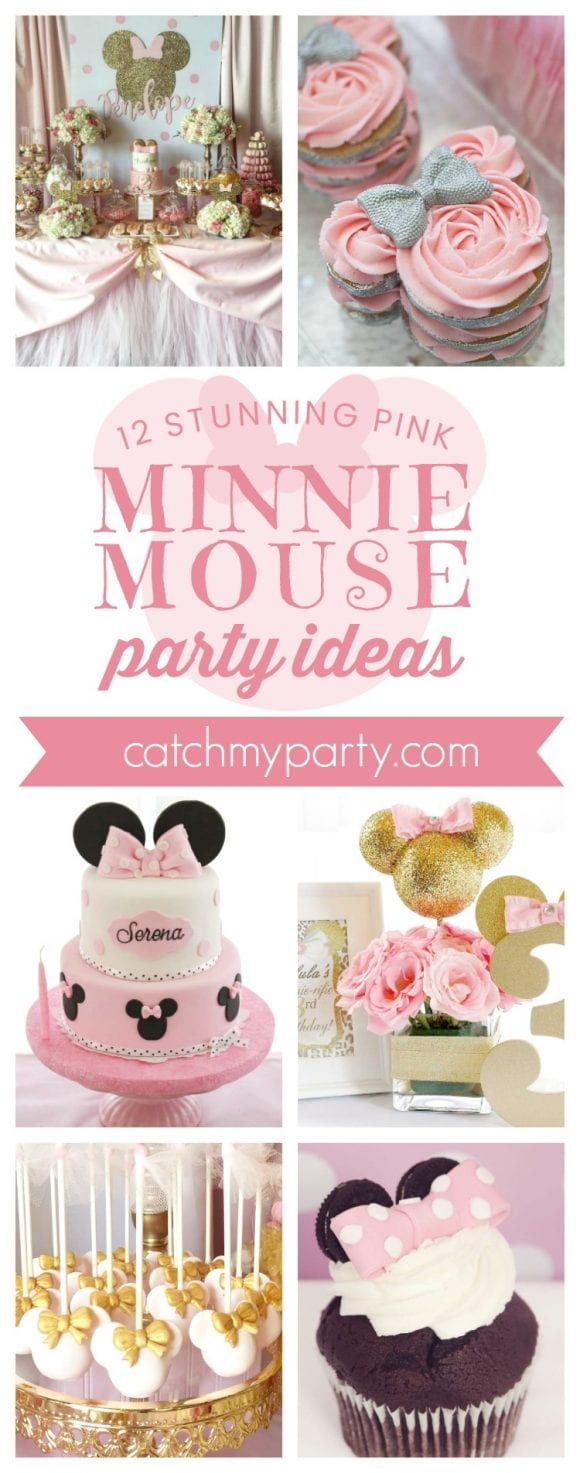 12 Stunning Pink Minnie Mouse Party Ideas I CatchMyParty.com