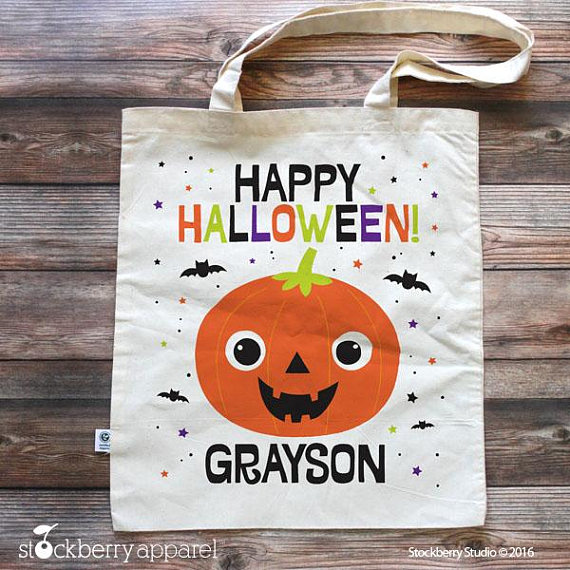 Halloween Trick or Treat Bag Party Favors | CatchMyParty.com
