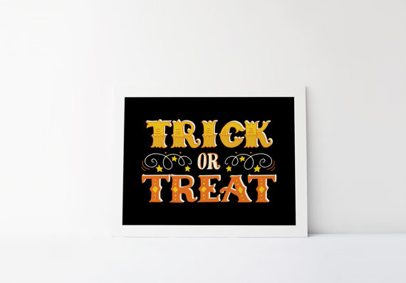 Trick or Treat Sign | CatchMyParty.com