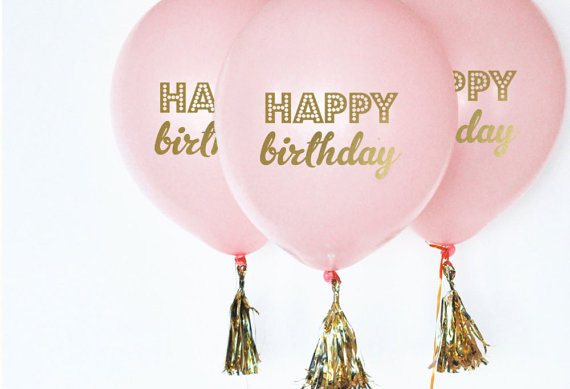 Pink and Gold Balloons | CatchMyParty.com