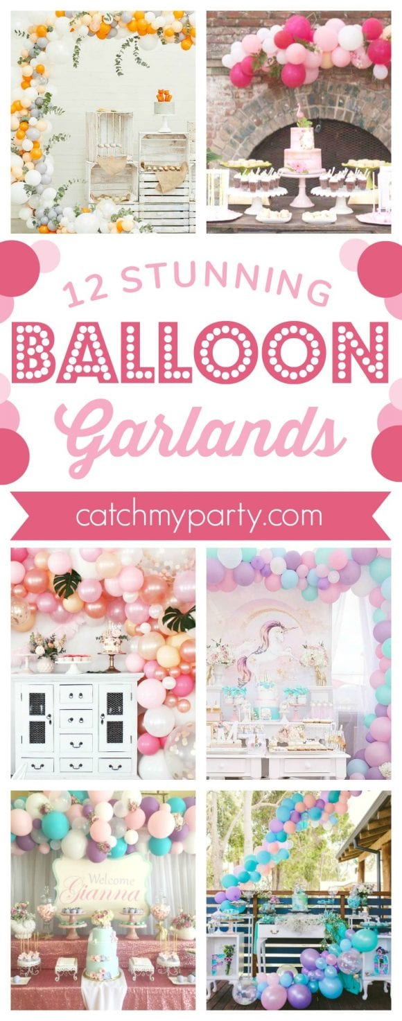 12 Stunning Balloon Garlands | CatchMyParty.com