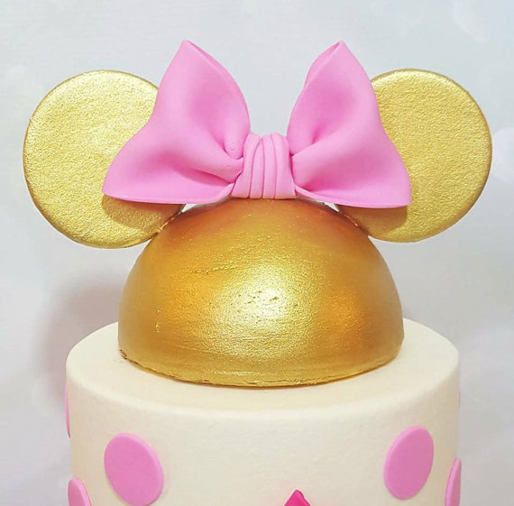 Minnie Mouse Cake Topper | CatchMyParty.com