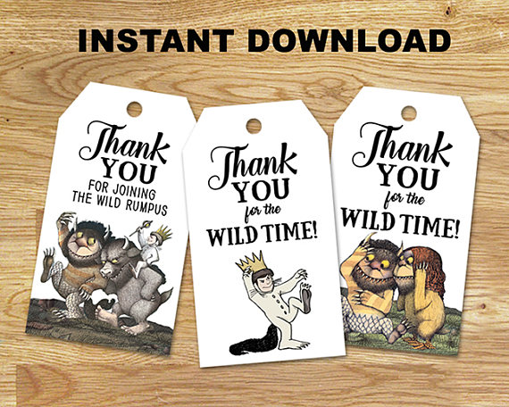 Wild One Party Favor Tags | CatchMyParty.com
