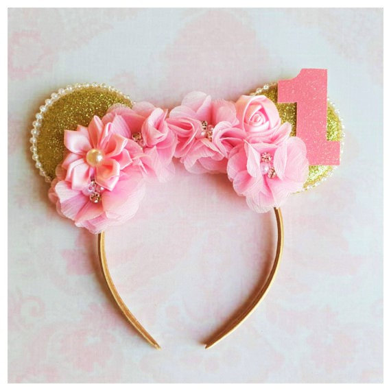Minnie Mouse Floral Headband | CatchMyParty.com