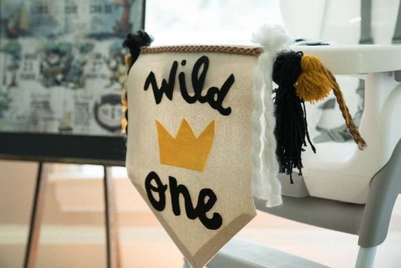 Wild One Highchair Garland | CatchMyParty.com