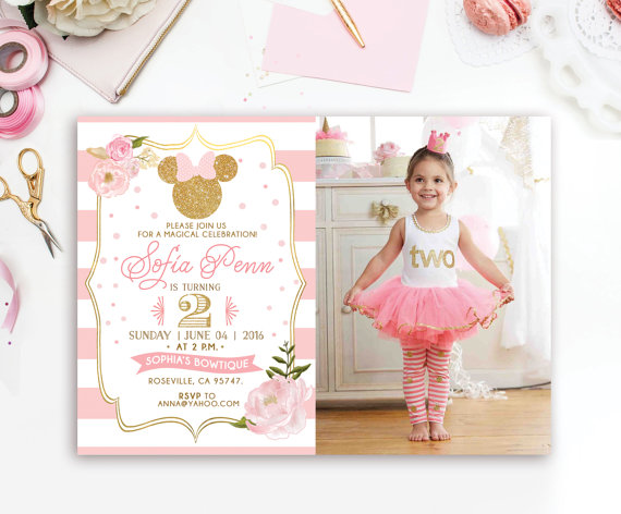 Minnie Mouse party Invitation | CatchMyParty.com