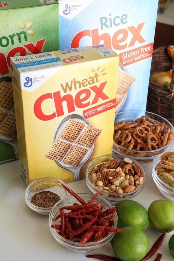 Ingredients Spicy Chex Mix | CatchMyParty.com