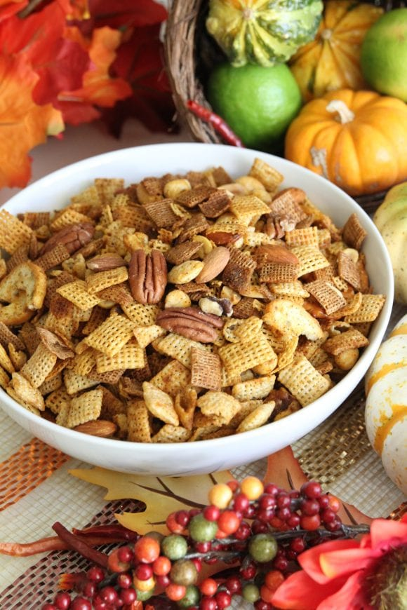 Spicy Chex Mix Recipe | CatchMyParty.com