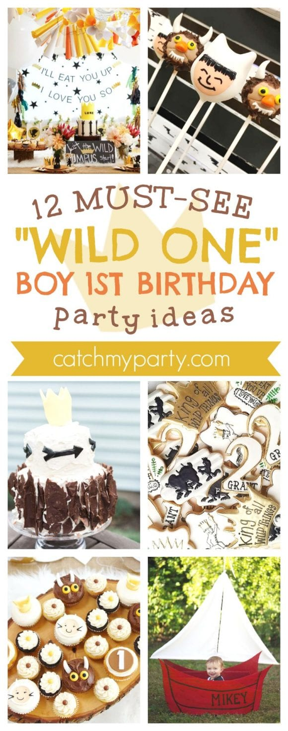 "12 Must-See ""Wild One"" Boy 1st Birthday Party Ideas I CatchMyParty.com"