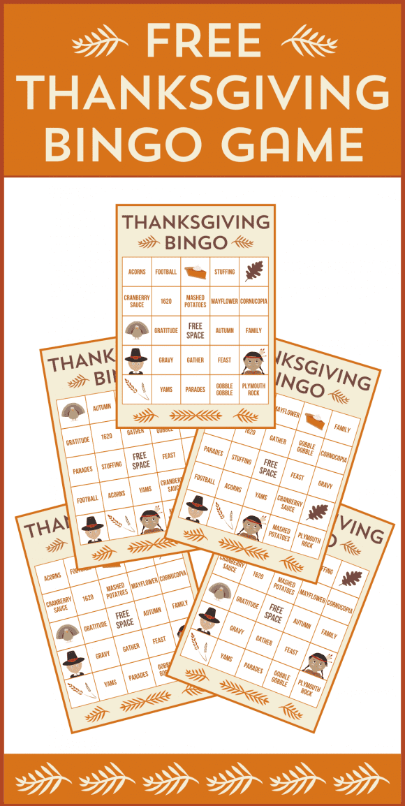 Free Printable Thanksgiving Bingo Cards | CatchMyParty.com