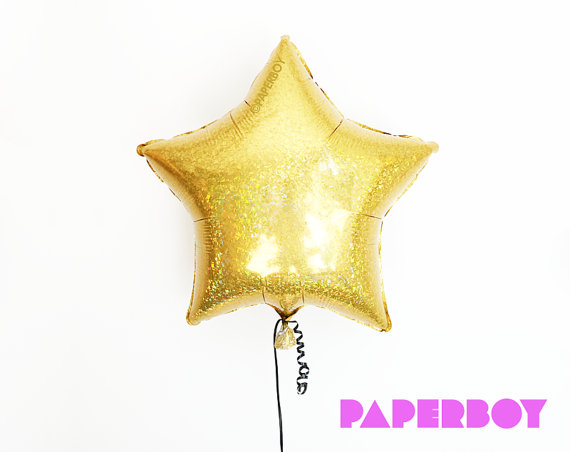 Gold Star Balloon | CatchMyParty.com