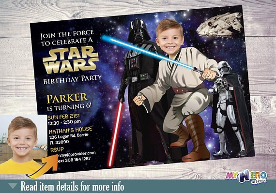 Star Wars party Invitation | CatchMyParty.com