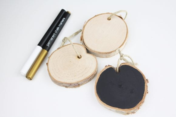 Paint each wood with chalkboard paint | CatchMyParty.com