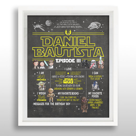Star Wars Birthday Poster | CatchMyParty.com