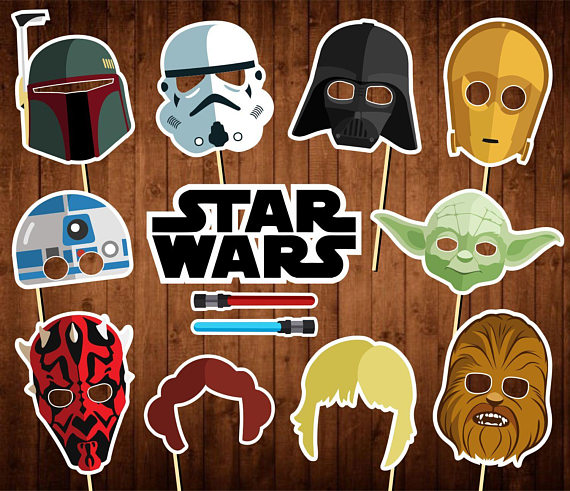 Star Wars photo booth props | CatchMyParty.com