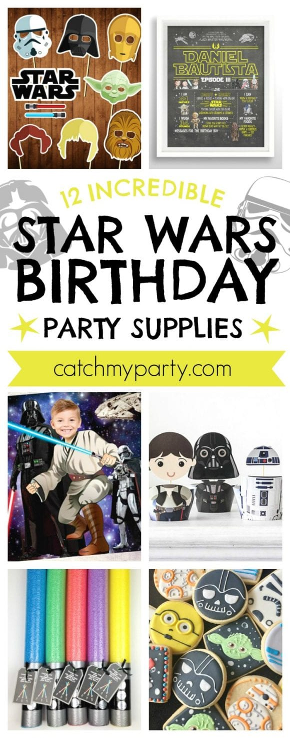 12 Incredible Star Wars Birthday Party Supplies | CatchMyParty.com