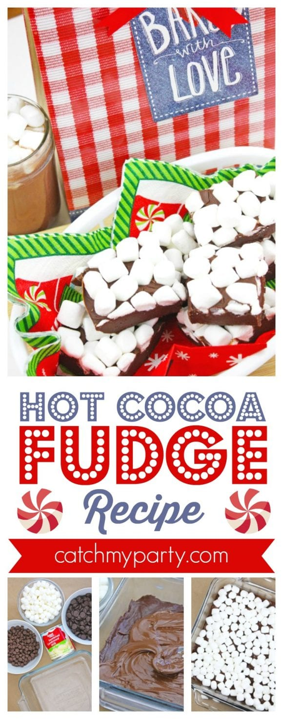 Hot Cocoa Fudge Recipe | CatchMyParty.com
