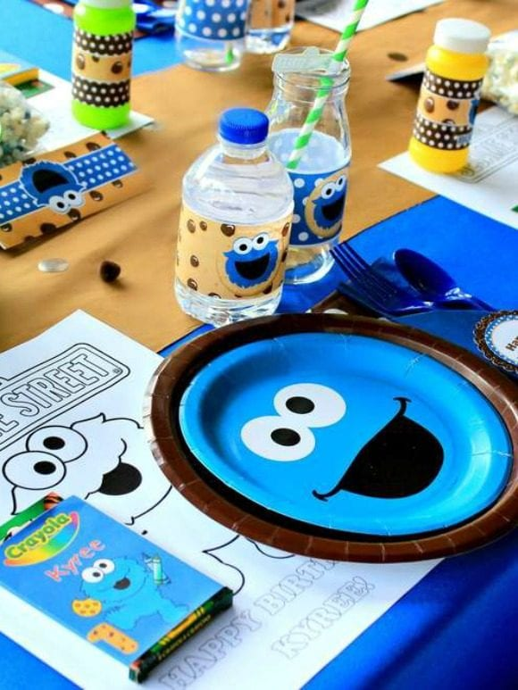 Cookie Monster birthday party I CatchMyParty.com