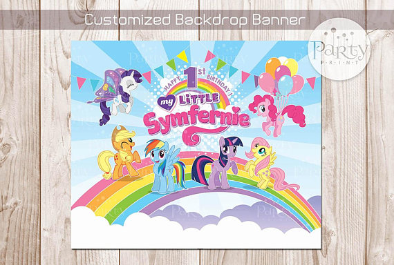 My Little Pony Backdrop | CatchMyParty.com