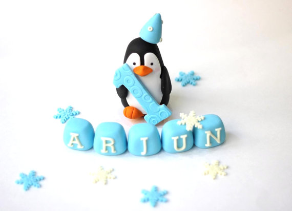 Fondant Winter Cake Topper | CatchMyParty.com