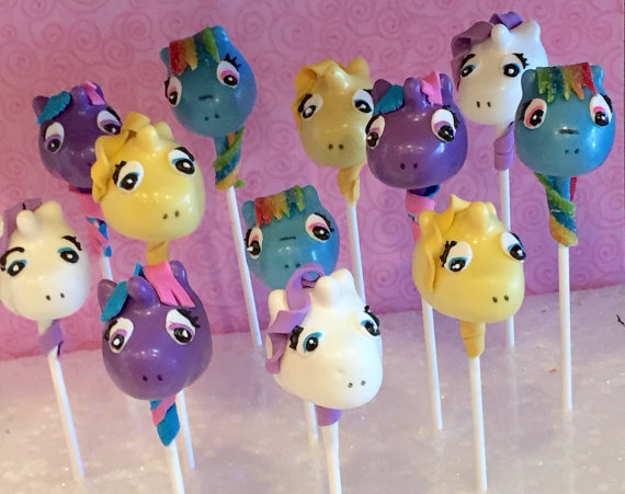 My Little Pony Cake Pops | CatchMyParty.com