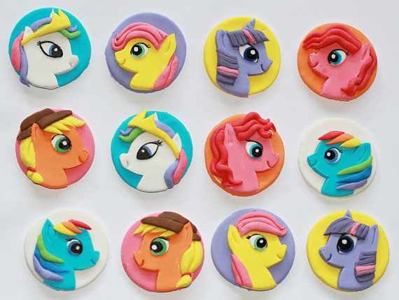 My Little Pony Fondant Cupcake Toppers | CatchMyParty.com