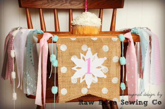 Winter High Chair Banner | CatchMyParty.com