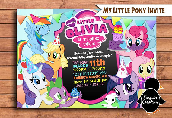 My Little Pony party Invitation | CatchMyParty.com