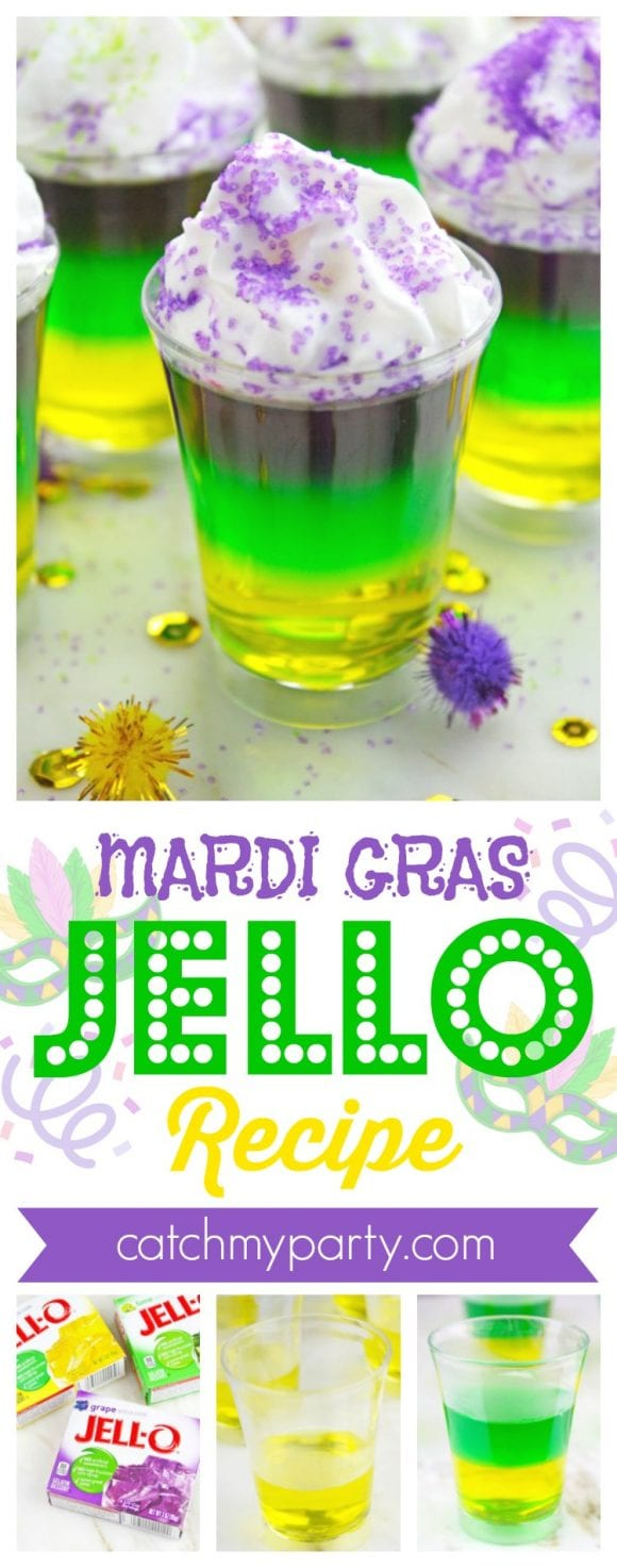 Mardi Gras Jello Recipe | CatchMyParty.com