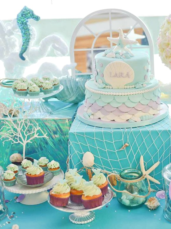 Romantic Mermaid Party | CatchMyParty.com