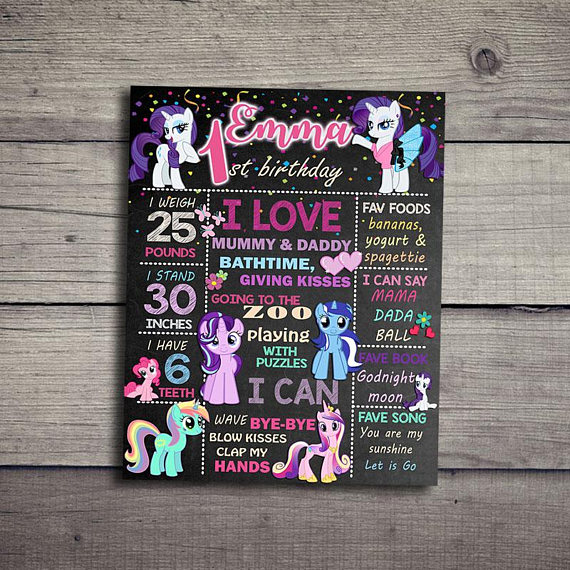 My Little Pony Birthday Poster | CatchMyParty.com