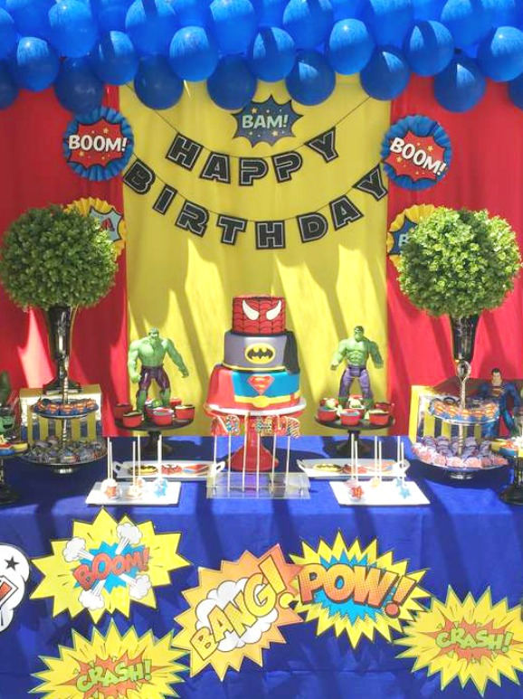 Superhero birthday party | CatchMyParty.com