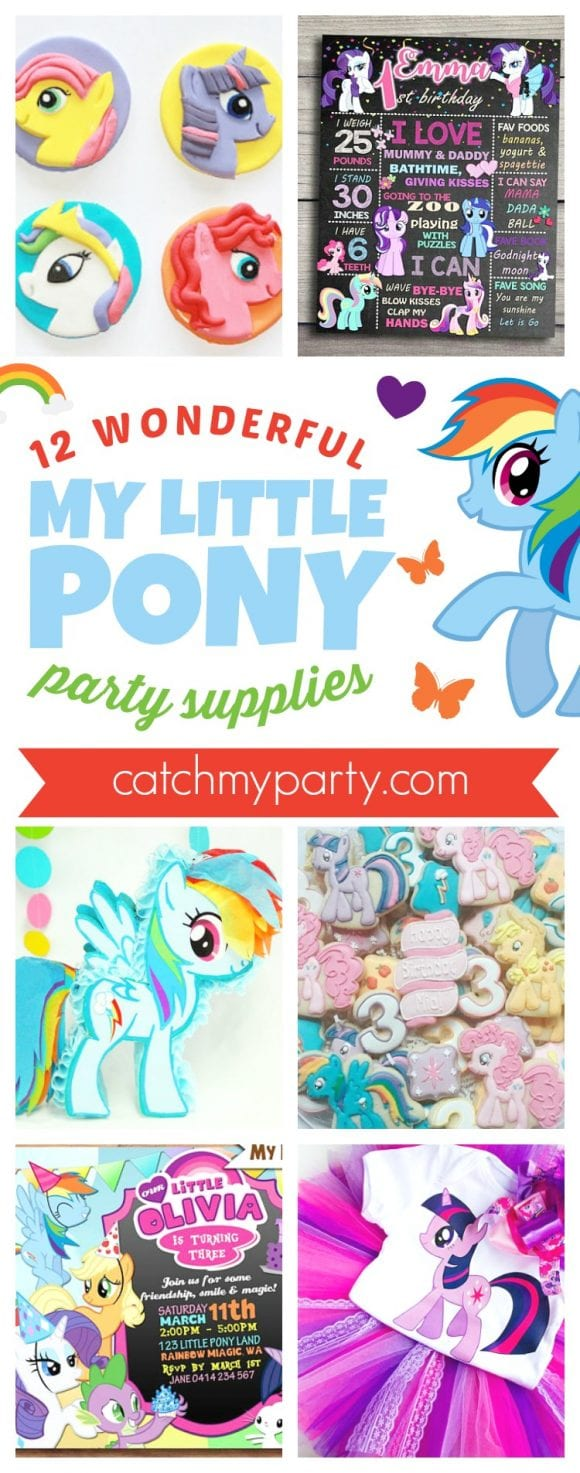 12 Wonderful My Little Pony Birthday Party Supplies | CatchMyParty.com