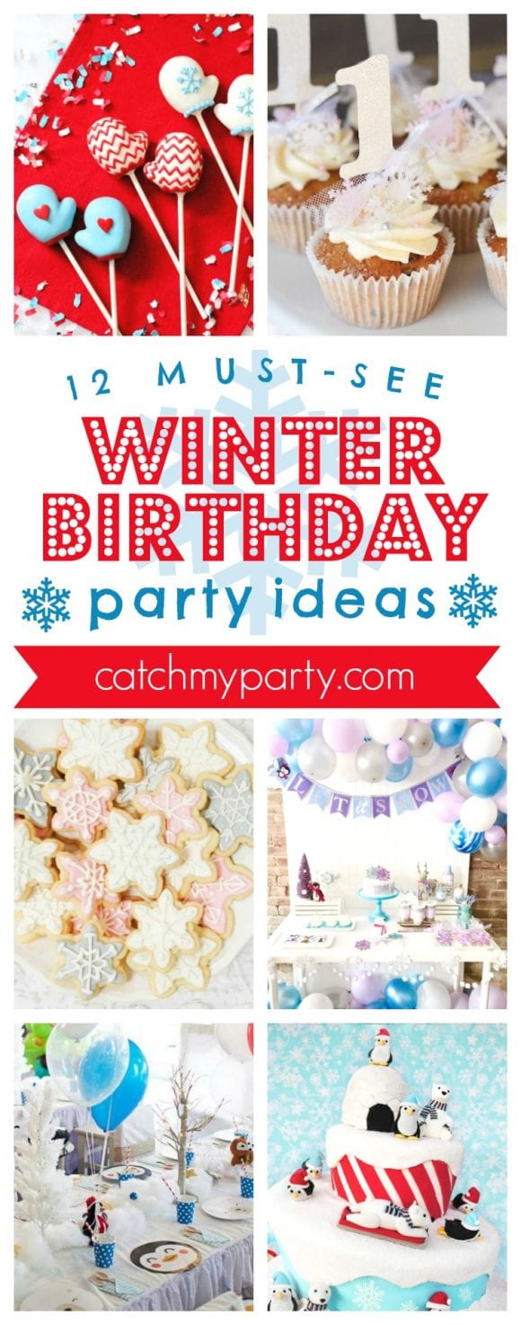 12 Must-See Winter Birthday Party Ideas I CatchMyParty.com