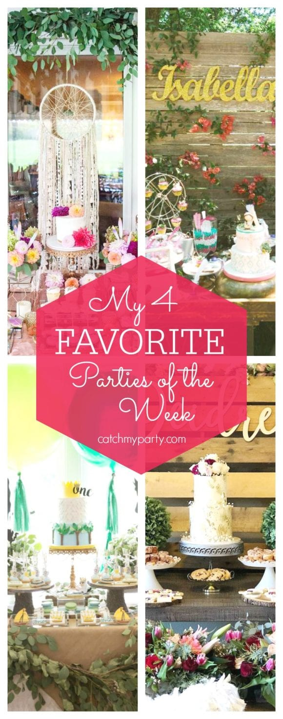 My favorite parties this week include this 2 boho tribal 1st birthday parties, a Where the Wild Things Are 1st birthday, and housewarming shabby chic party | CatchMyParty