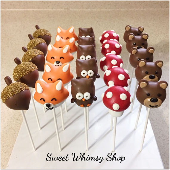 Woodland Cake Pops | CatchMyParty.com