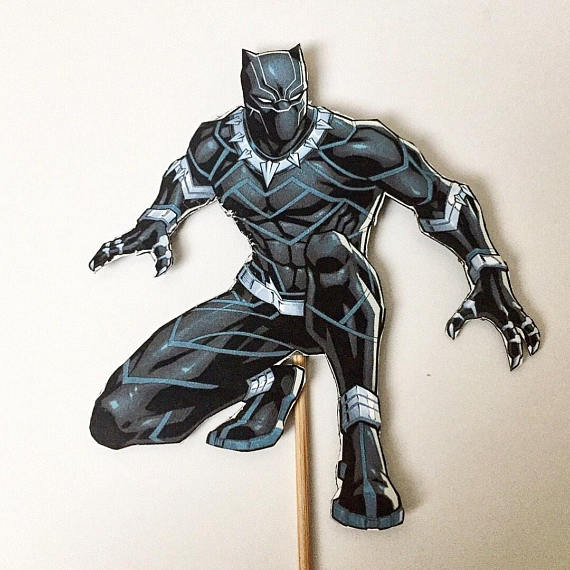 Black Panther Cake Topper | CatchMyParty.com