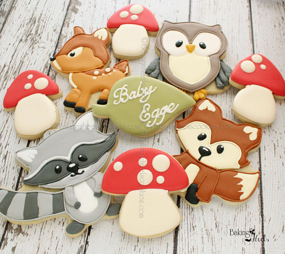 Woodland Cookies | CatchMyParty.com