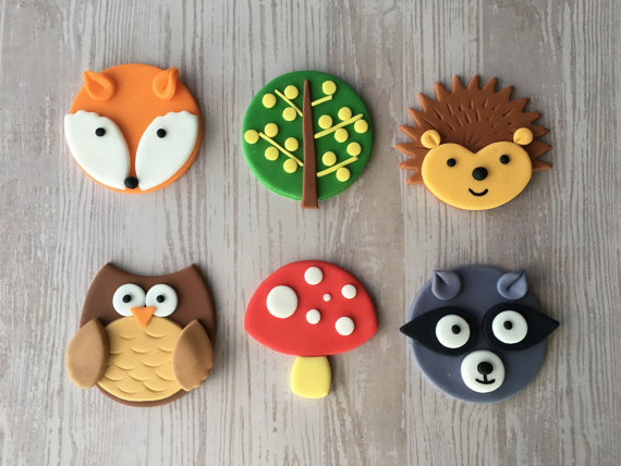 Woodland Cupcake Toppers | CatchMyParty.com