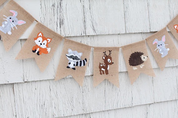 Woodland Fabric Banner | CatchMyParty.com