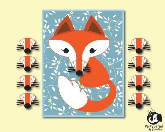 Woodland Fox 'Pin The Nose' | CatchMyParty.com