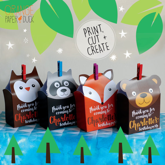 Woodland Party Favor Bags | CatchMyParty.com